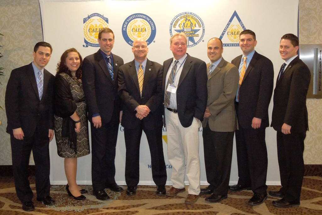 NNEPAC members Kevin DiNapoli, Jamie Iskra, Mark Collopy, Greg Murphy, Bill Pease, Carlos Camacho, Dave Cayot, and Nicolas Sassseville at the Reno CALEA Conference, March 2015.