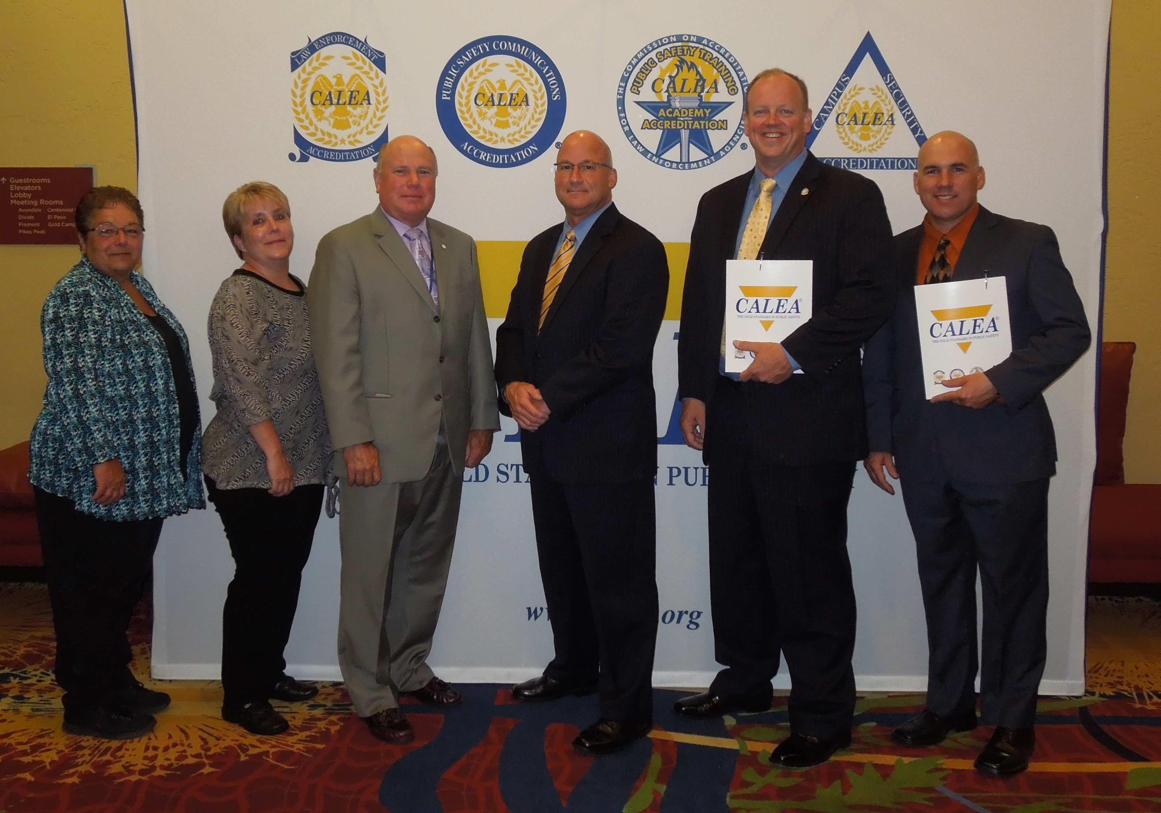 NNEPAC members and CALEA Regional Program Manager Paul MacMillan at the CALEA Conference in Colorado Springs, CO. (July 2015)