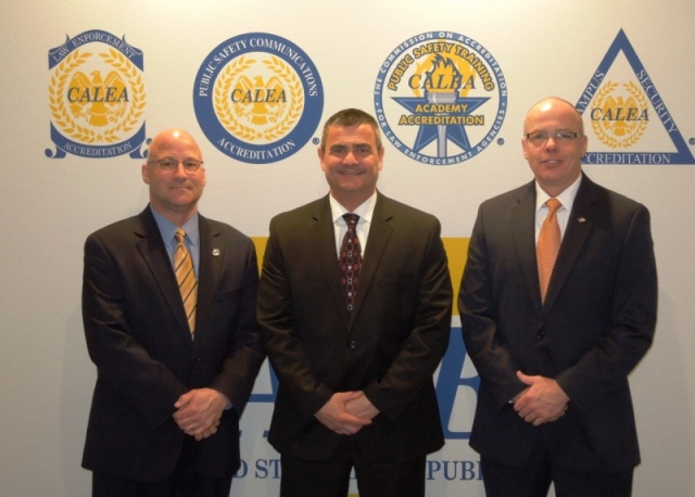 Manchester, NH PD AM Greg Murphy, Chief David Mara, and Assistant Chief Nick Willard at the Reno, NV CALEA Conference in March 2015.