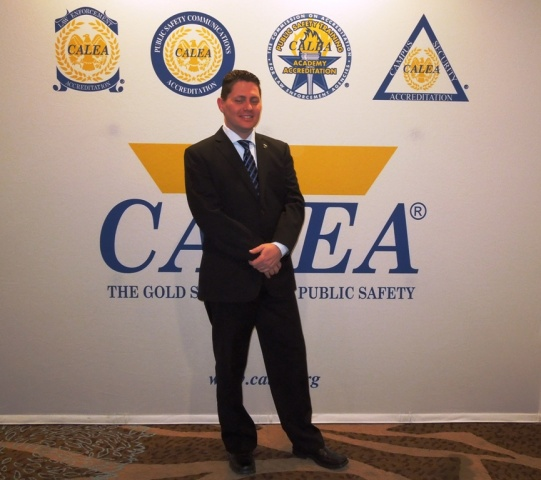 Montreal Airport Patrol AM Nicolas Sasseville at the Reno, NV CALEA Conference, March 2015.