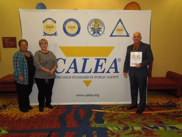 Goffstown, NH Police Chief Rob Browne, Accreditation Manager Michelle Provencher and Executive Secretary Denise Roberge at the Colorado Springs CALEA Conference.