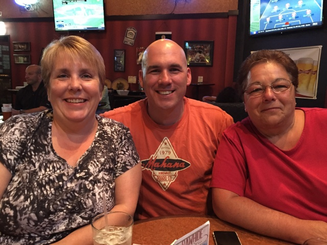 Goffstown, NH Police Department AM Michelle Provencher, Chief Rob Browne, and Executive Secretary Denise Roberge enjoy some down time at the Colroado Springs CALEA Confernce held in July 2015.