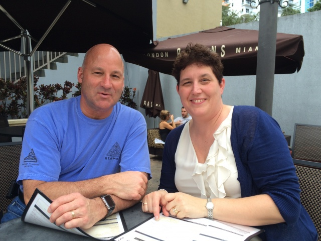 Greg Murphy and Vermont State Police Sgt. Helaine Gaiotti enjoying some down time in Miami while attending the 2015 CALEA Confernce.